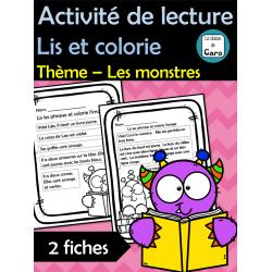 Lis et colorie Thème – Les monstres