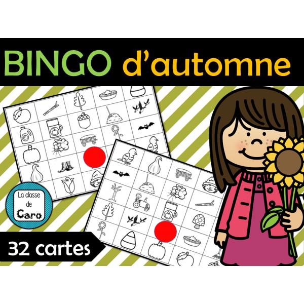 Bingo images d'automne - 32 cartes