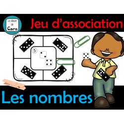 Jeu de mathématiques - LES NOMBRES - Association