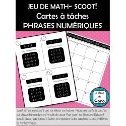 JEU AMUSANT SCOOT! PHRASES NUMÉRIQUES - Math