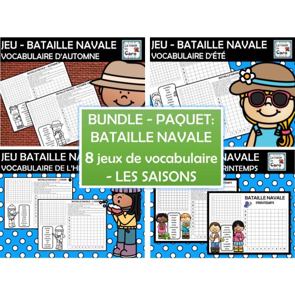 PAQUET - JEUX DE BATAILLE NAVALE - Les saisons