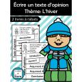 Écrire un texte d'opinion - L'hiver