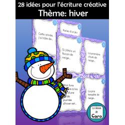 28 IDÉES POUR L'ÉCRITURE CRÉATIVE - HIVER