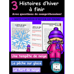 3 Histoires D'HIVER à finir + Mots cachés