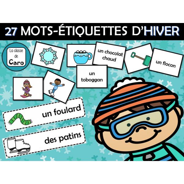 27 MOTS-ÉTIQUETTES D'HIVER