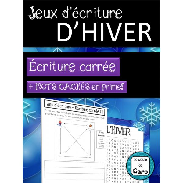 Jeux d'écriture d'hiver - ÉCRITURE CARRÉE