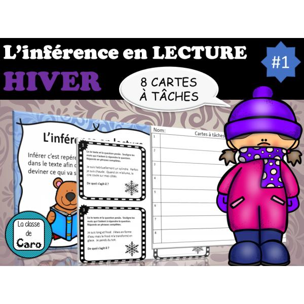 L'inférence en lecture - HIVER - Cartes à tâches