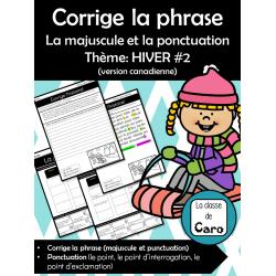 La majuscule et la ponctuation Thème: HIVER #2