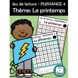 Jeu de lecture de phrases - Le printemps