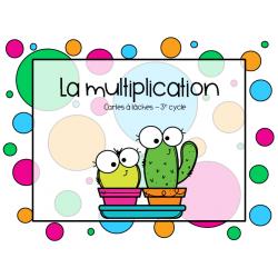 La multiplication - cartes à tâches
