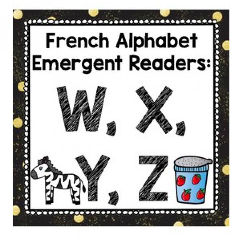 Livre Debutant Alphabet Lettre W X Y Et Z