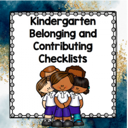 Kindergarten Checklists