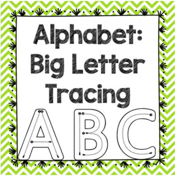 BILINGUAL Alphabet Big Letter Tracing