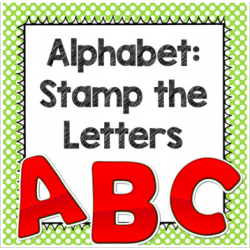 Alphabet Stamping Pages Freebie