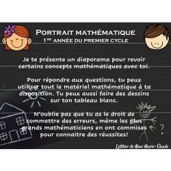 Portrait mathématique 1re année