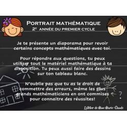 Portrait mathématique 2e année