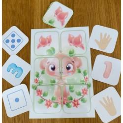 puzzle de 6 - singe