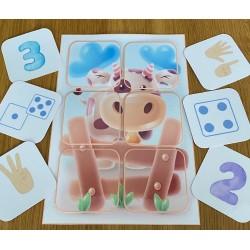 puzzle de 6 - vache