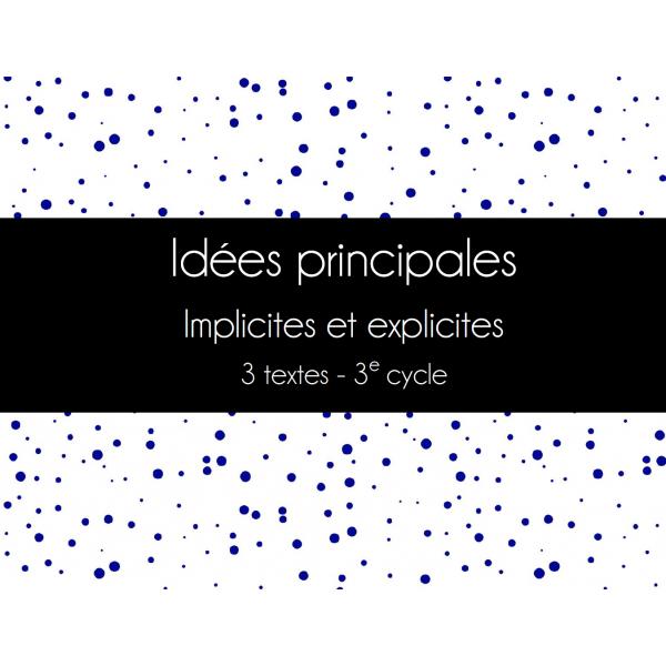 ADEL - Idées principales - Lecture