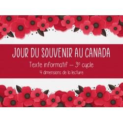 Jour du Souvenir au Camada - Compré. de lecture
