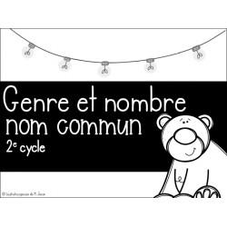 Français // Cartes à tâches: Genre et nombre