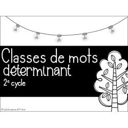 Français // Cartes à tâches: déterminant