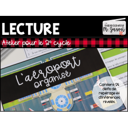 Atelier lecture: L'aéroport // 2e cycle