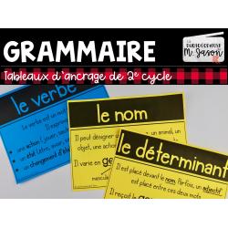 Francais: Tableaux d'ancrage // 2e cycle