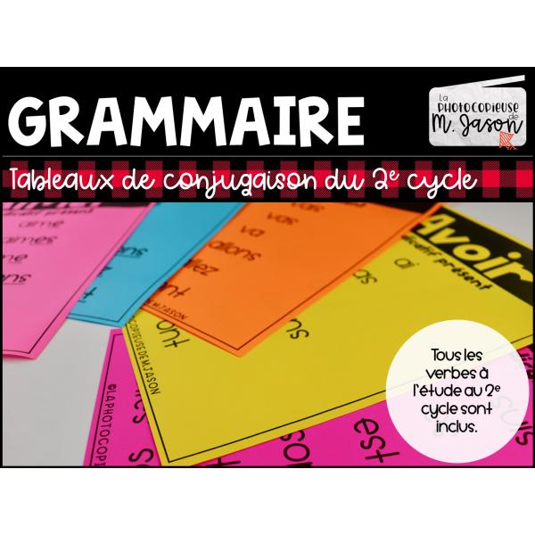 Français: Tableaux de conjugaison // 2e cycle