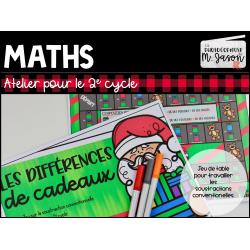 Atelier maths: Les différences de cadeaux