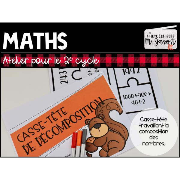 Atelier maths: Casse-tête décomposition
