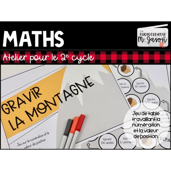 Atelier maths: Gravir la montagne! //2e cycle