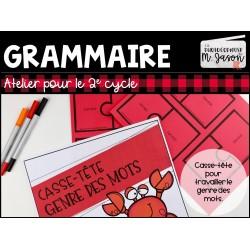 Atelier français: Casse-tête genre //2e cycle