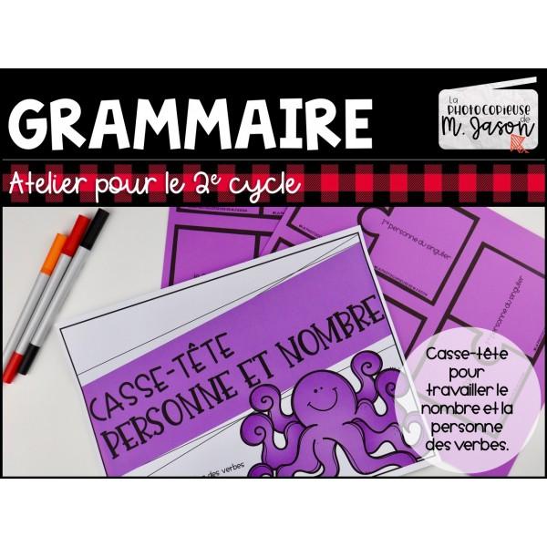 Atelier français: Personne et nombre // 2e cycle