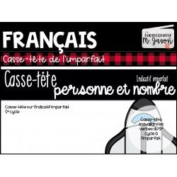 Atelier francais: casse-tête Imparfait // 2e cycle