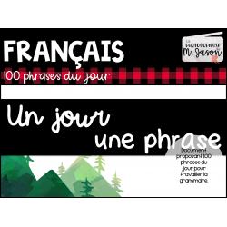 Français: Un jour, une phrase