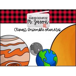 Clipart //Ensemble planètes