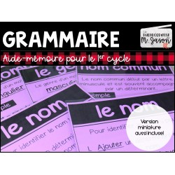 Français: Tableaux d'ancrage // 1er cycle
