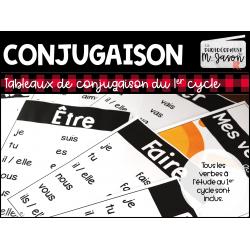Français: Tableaux conjugaison // 1er cycle