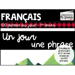 Français // Un jour, une phrase: 1re année