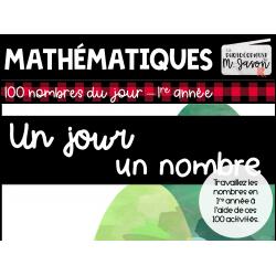 Maths // Un jour, un nombre - 1re année