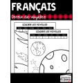 Français: Colorie les voyelles //1er cycle