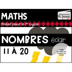 Maths: Nombres éclairs 11 à 20 // 1re année