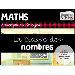 Atelier maths: La classe des nombres // 2e cycle