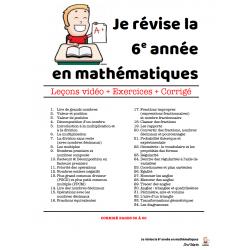 Je révise la 6e année en mathématiques !