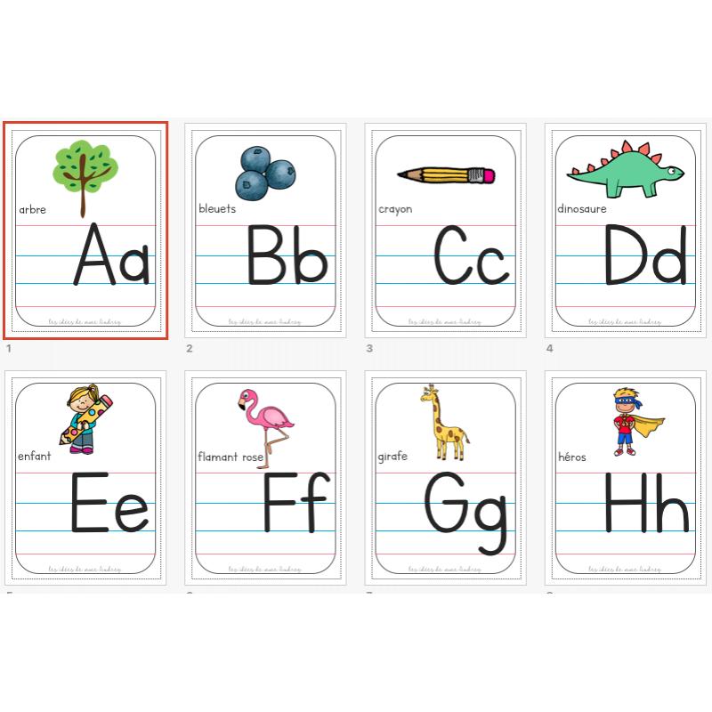 Affichage Lettres De L Alphabet