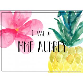 Classe de Mme Audrey
