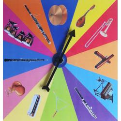Roue d'instruments de musique
