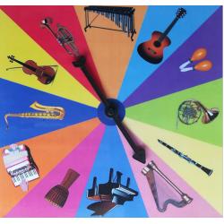 Roue des instruments de musique