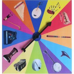 Roue des instruments de musique du monde